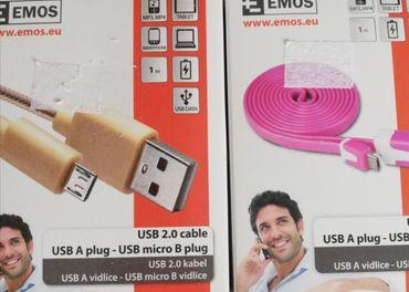 USB káble USB  A plug 2.0 - USB micro B plug