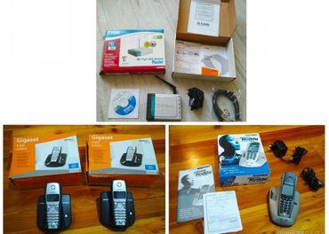 prenosné telefóny SIEMENS a MICROCOM a Wifi router D-link