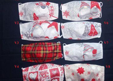 Vianočné bavlnené rúška