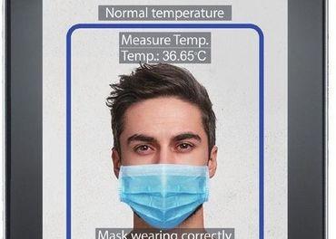 Prístupová jednotka, detekcia telesnej teploty a rúška