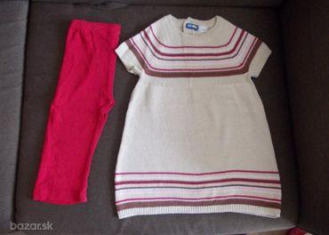 Štrikované šaty a legíny 86