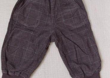 Menčestrové nohavice 80