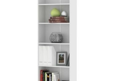 biela knižnica - 3 kusy, nová
