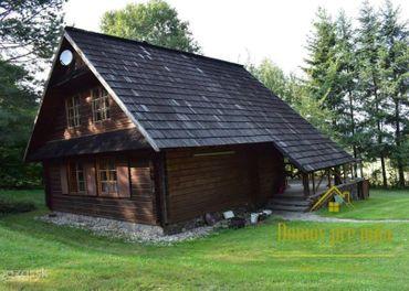 NA PREDAJ  -  Krásna drevená chata s veľkým pozemkom v nádhernom prostredí na okraji lesa