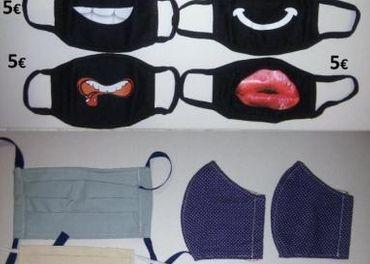 7x žartovné rúška a iné rôzne druhy tvary