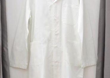 biely pracovný plášť 48
