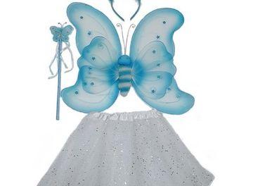 Karnevalový kostým Motýlik modrý