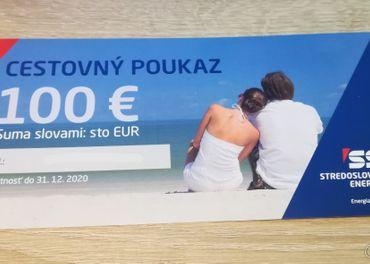 Predám cestovný poukaz v hodnote 100€