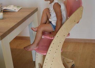 Dětská rostoucí židle PARIS - růžová