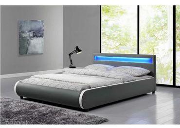 Nová Manželská posteľ s RGB LED osvetlením DULCEA