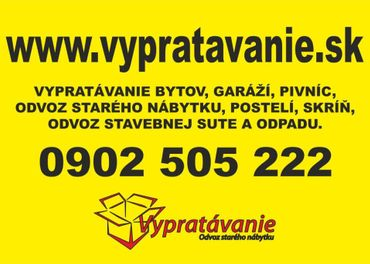 Vypratávanie bytov, odvoz starého nábytku Bratislava