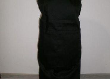 Kuchárska zástera cez krk čierna
