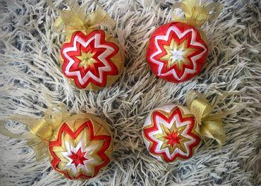 Vianočné patchwork gule