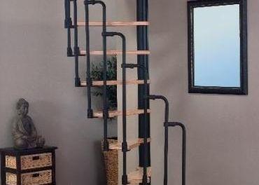 Polkruhové točité schody pre otvor 120 x 65 cm