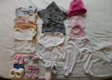 Balík oblečenia dievča 6-9 mesiacov-20 ks