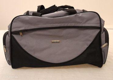 Cestovná taška zn. Carlos, šedej farby, 50 cm dlhý