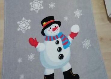 Detska deka snehuliak