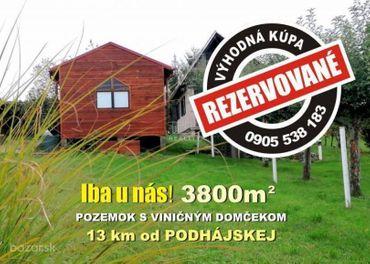 Pozemok s chatkou s výmerou 3800 m2, na predaj!  Kúsok od Podhájskej - Dolný Pial, 3800m2