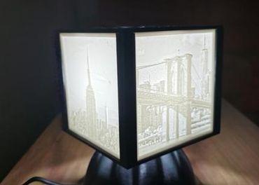 3d lampa s vlastnými fotografiami