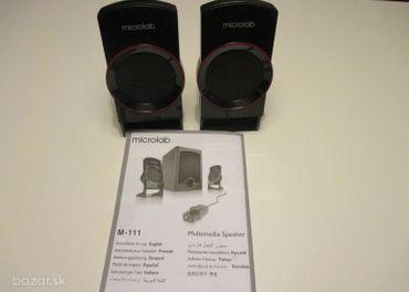 predám Reprobox Microlab M-111, 4 ohmy, 2 kusy