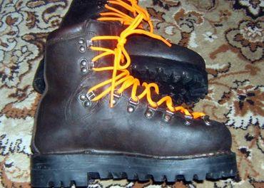 Kožené turistické topánky