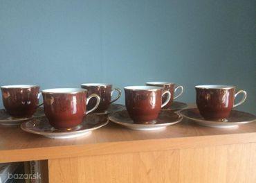 kávová súprava, šialky, sklo