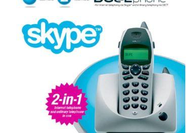 Bezdrôtový DUAL PHONE (telef. linka + Skype cez USB}