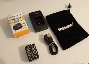 Nová batéria DMW-BMB9 + USB nabíjačka combo na dve batérie