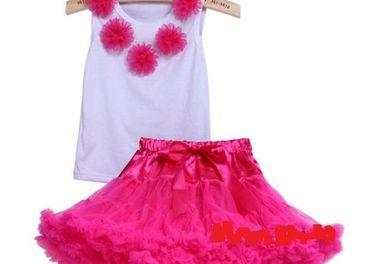 tutu sukňa s tričkom s ružami