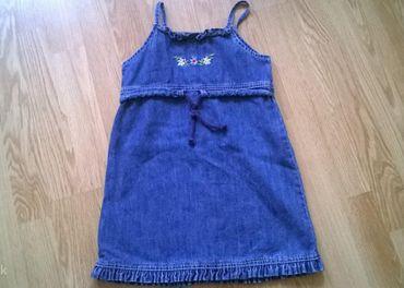 šaty riflové velk 110 na 4/5rokov pre dievčatko
