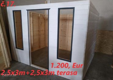 Predám Záhradný domček:2,5mx3m+2,5mx3m Terasa.