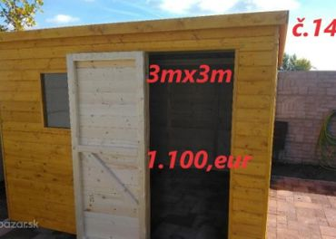 Predám Záhradný domček 3x3 m.
