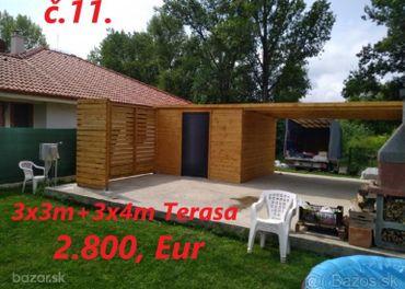 Predám Záhradný domček 3x3m+terasa 3x4m.
