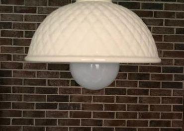 Stropná lampa krémová provensal