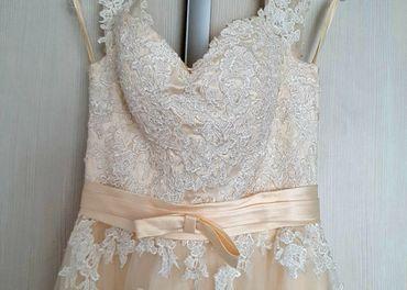 Svadobné maslové šaty