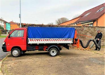 Piaggio Porter Maxxi čistící vůz vysavač listí a odpadu