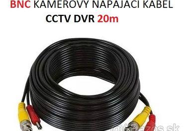 BNC KAMEROVY NAPAJACI KABEL CCTV DVR 20m