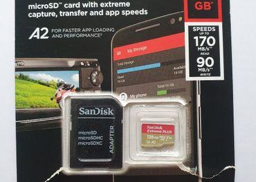 Pamäťová karta Sandisk Micro SDXC Extreme Plus 128GB+adaptér
