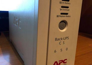Záložný zdroj k PC APC BACK-UPS CS 650VA 230V