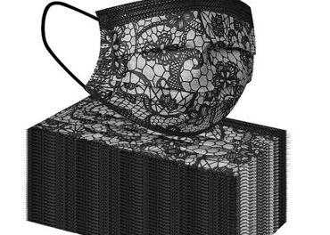 Trojvrstvové ochranné rúška - imitácia krajky