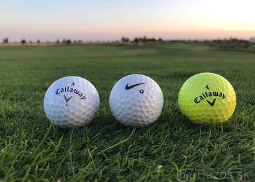 Predám 150ks hraných golfových loptičiek kvality AA/A, B