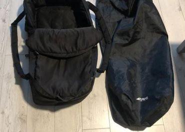 HAUCK 2 in 1 Carrycot Black vanička/fusak