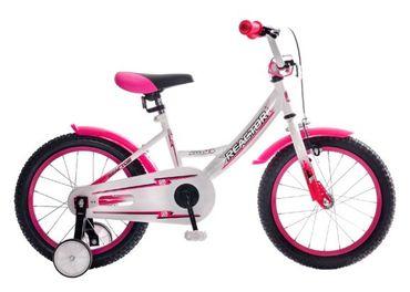 Detský bicykel Reactor Foxy 16 (biely-ružový)