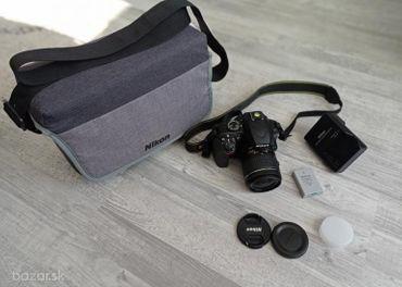 Nikon D3400 + Nikkor 18 – 55 mm f/3,5 – 5,6 G AF-P DX + brašňa Nikon CF-EU11