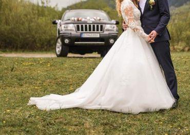 Svadobne šaty s dlhým rukávom