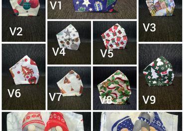 Rúška + vianočné vzory