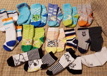 Ponozky,rozne zn. s.Oliver,Nike,HollyWhite,vel.19-22