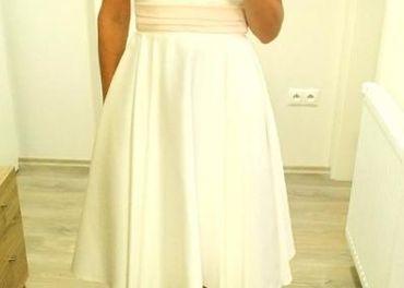 Krátke zn. svadobné šaty, TOP