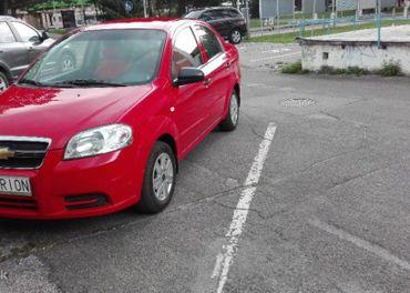 Chevrolet Aveo sedan, r. v. 2008, farba červená