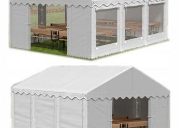 5x6m 2-2,91m záhradný párty stan / pavilón
